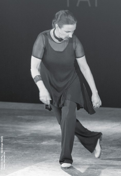 Backstage Studio: Barbara Duffy performing während Zurich Tap Festival 2013