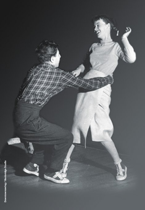 Backstage Studio: Two Lindy Hop dancers dancing
