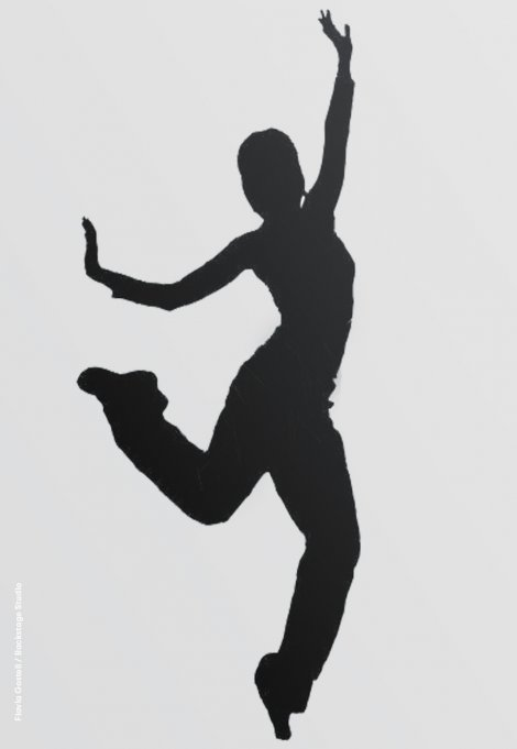 Backstage Studio: Silhouette of a dancer